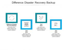 Difference Disaster Recovery Backup Ppt Powerpoint Presentation Ideas Deck Cpb