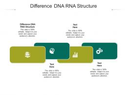 Difference DNA RNA Structure Ppt Powerpoint Presentation Infographic Template Visual Aids Cpb