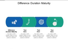 Difference Duration Maturity Ppt Powerpoint Presentation Ideas Master Slide Cpb