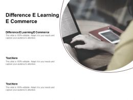 Difference E Learning E Commerce Ppt Powerpoint Presentation Layouts Graphics Cpb