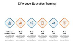 Difference Education Training Ppt Powerpoint Presentation Summary Graphic Tips Cpb