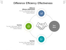 Difference Efficiency Effectiveness Ppt Powerpoint Presentation Icon Diagrams Cpb