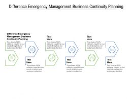 Difference Emergency Management Business Continuity Planning Ppt Slides Cpb