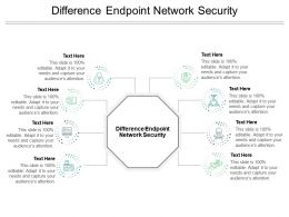 Difference Endpoint Network Security Ppt Powerpoint Presentation Inspiration Clipart Cpb