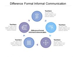 Difference Formal Informal Communication Ppt Powerpoint Presentation Styles Portrait Cpb
