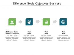 Difference Goals Objectives Business Ppt Powerpoint Presentation File Templates Cpb