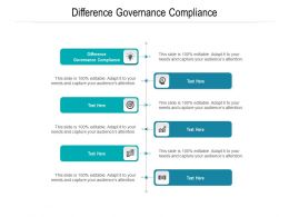 Difference Governance Compliance Ppt Powerpoint Presentation Infographic Template Cpb