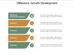 Difference Growth Development Ppt Powerpoint Presentation Layouts Sample Cpb