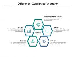 Difference Guarantee Warranty Ppt Powerpoint Presentation File Slide Cpb