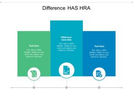 Difference HAS HRA Ppt Powerpoint Presentation Inspiration Diagrams Cpb