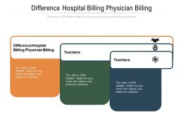 Difference Hospital Billing Physician Billing Ppt Powerpoint Presentation Model Demonstration Cpb