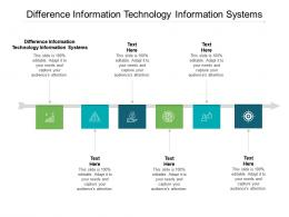 Difference Information Technology Information Systems Cpb Ppt Powerpoint Presentation Slides Show Cpb