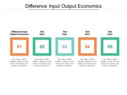 Difference Input Output Economics Ppt Powerpoint Presentation Show Cpb