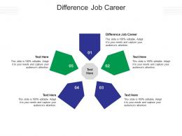 Difference Job Career Ppt PowerPoint Presentation Portfolio Picture Cpb