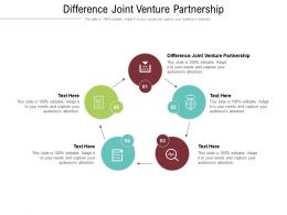 Difference Joint Venture Partnership Ppt Powerpoint Presentation Infographics Ideas Cpb