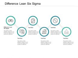 Difference Lean Six Sigma Ppt Powerpoint Presentation Gallery Introduction Cpb