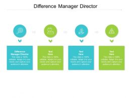 Difference Manager Director Ppt Powerpoint Presentation Portfolio Graphics Cpb