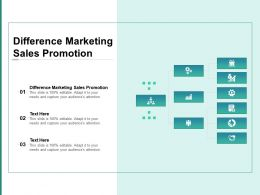 Difference Marketing Sales Promotion Ppt Powerpoint Presentation Summary Ideas Cpb