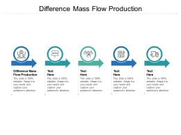 Difference Mass Flow Production Ppt Powerpoint Presentation Outline Vector Cpb