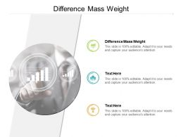 Difference Mass Weight Ppt Powerpoint Presentation File Icon Cpb