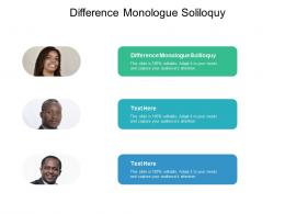 difference monologue soliloquy ppt powerpoint presentation show deck cpb