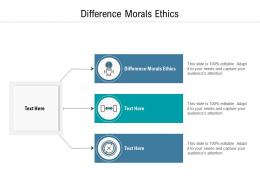 Difference Morals Ethics Ppt Powerpoint Presentation Gallery Outfit Cpb
