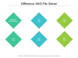 Difference NAS File Server Ppt Powerpoint Presentation Layouts Background Cpb