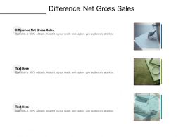 Difference Net Gross Sales Ppt Powerpoint Presentation Slides Ideas Cpb