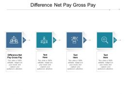 Difference Net Pay Gross Pay Ppt Powerpoint Presentation Inspiration Background Cpb