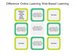 Difference Online Learning Web Based Learning Ppt Powerpoint Presentation Outline Graphics Cpb