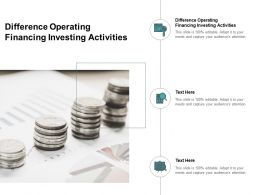 Difference Operating Financing Investing Activities Ppt Powerpoint Presentation Portfolio Cpb