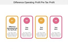 Difference Operating Profit Pre Tax Profit Ppt Powerpoint Presentation Ideas Cpb