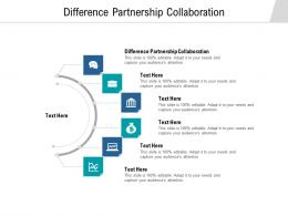 Difference Partnership Collaboration Ppt Powerpoint Presentation Styles Ideas Cpb