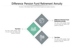 Difference Pension Fund Retirement Annuity Ppt Powerpoint Presentation Styles Styles Cpb