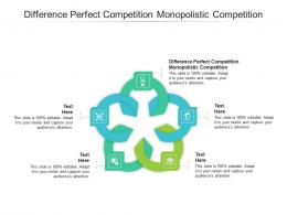 Difference Perfect Competition Monopolistic Competition Ppt Powerpoint Presentation Layouts Structure Cpb