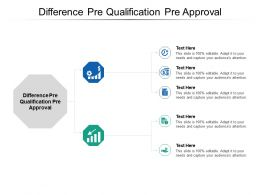 Difference Pre Qualification Pre Approval Ppt Powerpoint Presentation Gallery Graphics Tutorials Cpb