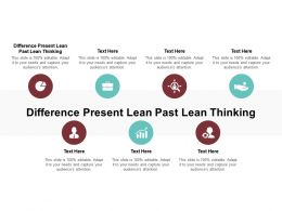 Difference Present Lean Past Lean Thinking Ppt Powerpoint Presentation Slides Show Cpb