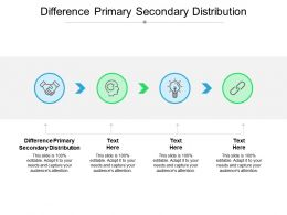 Difference Primary Secondary Distribution Ppt Powerpoint Presentation Layouts Styles Cpb