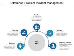 Difference Problem Incident Management Ppt Powerpoint Presentation Layouts Cpb