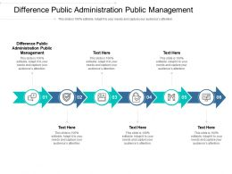 Difference Public Administration Public Management Ppt Powerpoint Presentation Show Cpb