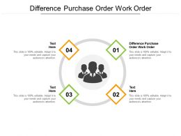 Difference Purchase Order Work Order Ppt Powerpoint Pictures Graphics Template Cpb