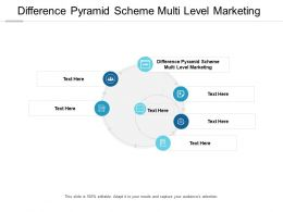 Difference Pyramid Scheme Multi Level Marketing Ppt Powerpoint Presentation Infographics Cpb