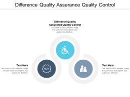 Difference Quality Assurance Quality Control Ppt Powerpoint Presentation Gallery Diagrams Cpb