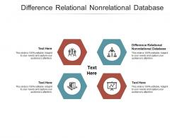 Difference Relational Nonrelational Database Ppt Powerpoint Presentation Layouts Outline Cpb