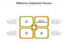 Difference Retirement Pension Ppt Powerpoint Presentation Layouts Master Slide Cpb