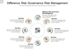 Difference Risk Governance Risk Management Ppt Powerpoint Presentation Summary Cpb