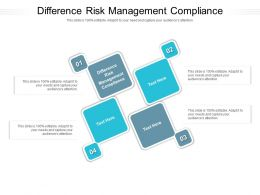 Difference Risk Management Compliance Ppt Powerpoint Presentation Icon Slide Portrait