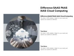 Difference SAAS PAAS IAAS Cloud Computing Ppt Powerpoint Presentation Pictures Background Designs Cpb