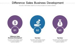 Difference Sales Business Development Ppt Powerpoint Presentation Inspiration Slide Download Cpb