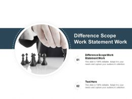 Difference Scope Work Statement Work Ppt Powerpoint Presentation Outline Format Ideas Cpb